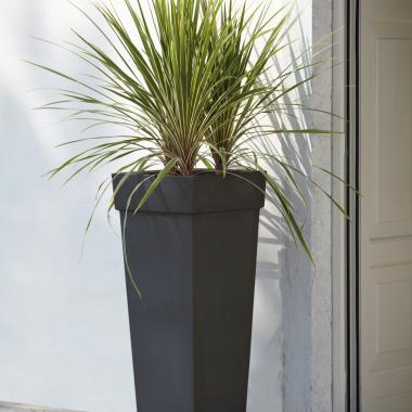 resin pot geryon slate colour