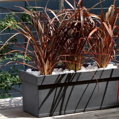 resin planter box themis slate colour