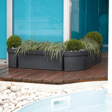 series of resin planter boxes themis slate colour 2