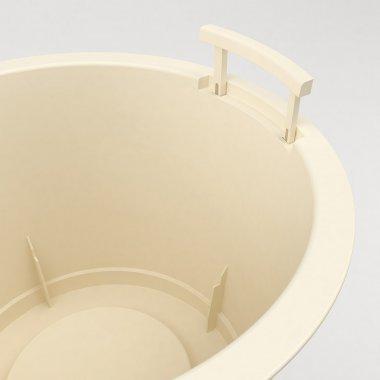 Vaso in plastica Style - Dettaglio della maniglia aperta