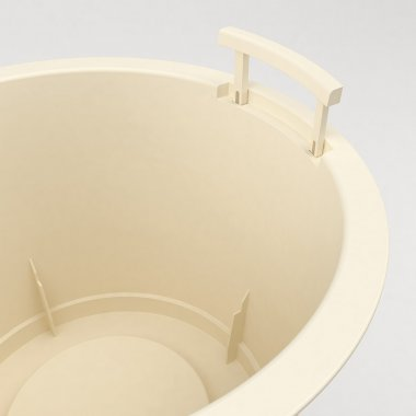 Pot en plastique Conca Style - Détail de la poignée ouverte