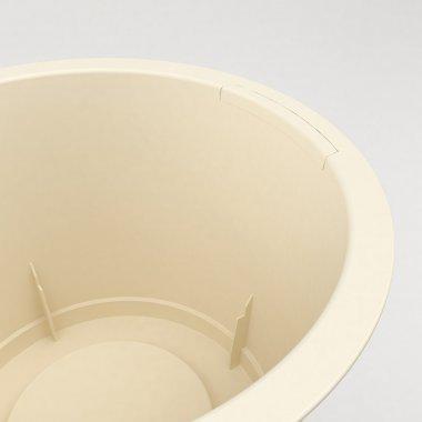Pot en plastique Conca Style - Détail de la poignée fermée