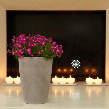 vaso in resina tylus colore cenere